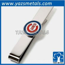 UBS tie bar, custom made metal tie clip with design