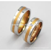 2016 Joyas de acero inoxidable 316L anillo de bodas de compromiso