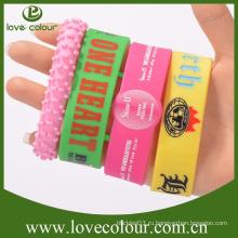 Промоциональный пользовательский браслет из силиконового сплава для новогоднего подарка