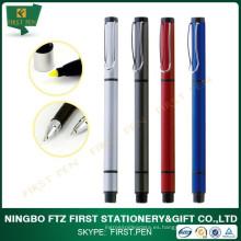 Reciclado de Aluminio Metal Highlighter pluma y bolígrafo