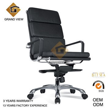 Chaise d'Eames cuir noir aviateur exécutif (GV-EA219)