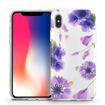 Rose Flower Smart Shockproof Cover para iPhone X