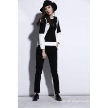 Оптовая высокое качество женщины Досуг и спорт черные костюмы