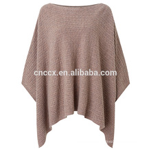 PK17ST127 Cable Knit Wool Poncho sweater