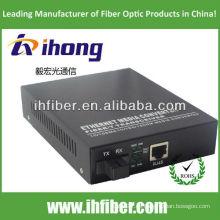 10/100 / 1000M Fibra Óptica Media Converter Singlemode única fibra SC puerto de 20 km