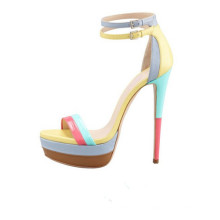 Sandálias clássicas da plataforma da senhora do salto alto da sorte (S35)