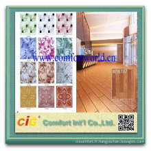 Vente chaude intérieur éponge plastique ménager planchers de PVC de 1MM 2MM