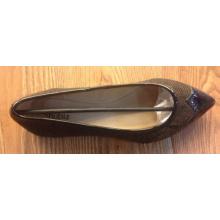 New Arrival Lady Fashion Flat PU Women Shoes (NF064)