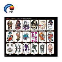 As tatuagens provisórias da grande arte de corpo para homens das mulheres armam tatuagens coloridas da composição