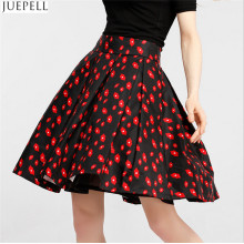 Autumn New Women High Waist Skirts Brand en Europe et Amérique Temperament Mettez sur une grande jupe florale un Word Tutu