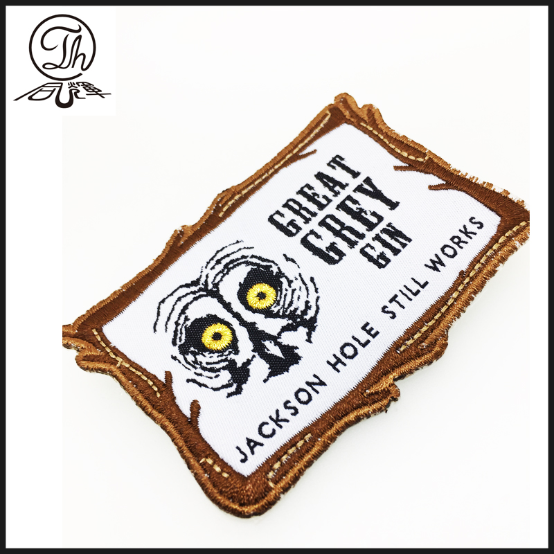 custom printed logo cloth tag woven label for garment