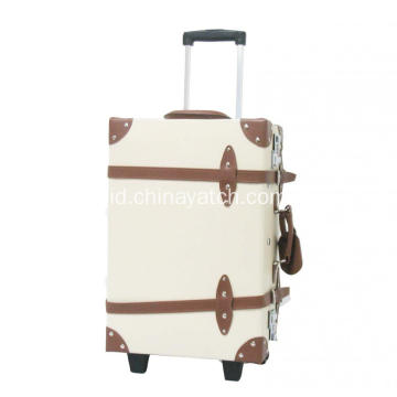 Vintage and Retro Style Trolley Luggage Case