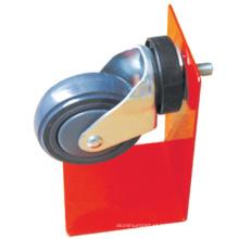 75mm cinza borracha giratória rodízios de PVC de carrinho de compras