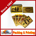 24k Gold Playing Cards in Wooden Box High Class (430025)