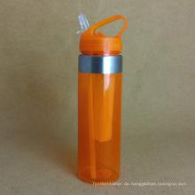 PC Wasserflasche mit Stroh
