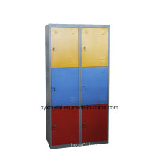 Colorful Kd Structure 6 Door School Furniture Clothes Storage Locker Cabinet with Mirror