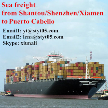 Fret international maritime de Shantou à Puerto Cabello