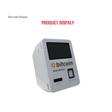 Selbstmontierter bargeldloser Bitcoin-Automaten-Kiosk an der Wand
