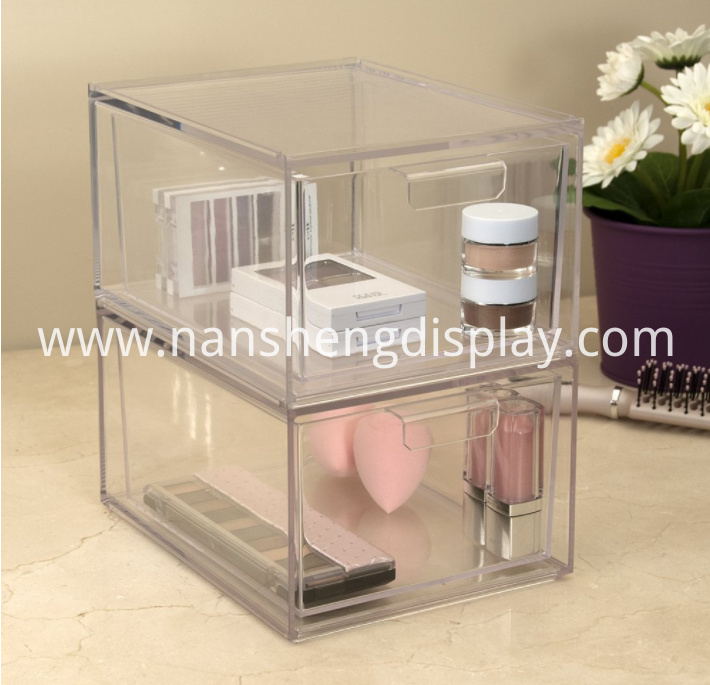 Stackable Cosmetic Storage Makeup Palette Organizer Drawers