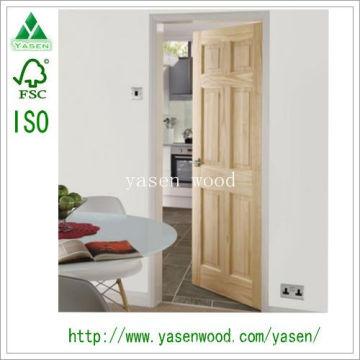 Clear Pine 6 Panel V-Groove Interior Door