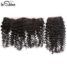Extension de cheveux vierges bouclés Afro Kinky de cheveux de la fermeture frontale de la catégorie 360
