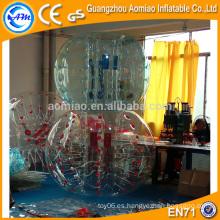 El color modificado para requisitos particulares puntea el fútbol de la burbuja, bola del burbuja / de la burbuja del fútbol del PVC / TPU