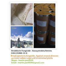 Bonne qualité, fongicide populaire, Azoxystrobine / Amista 98% TC, CAS 131860-33-8