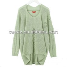 13STC5310 V-neck women long sweater design