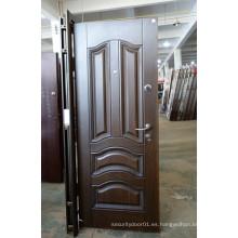 Acabado mate puerta de acero de alta calidad