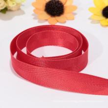 Экологичная широкая красная лента, снабжение нейлоновой лентой