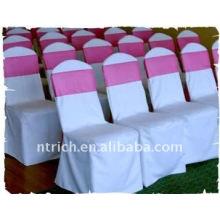 Couverture de chaise de banquet standard, CT037 polyester matière, durable et facile lavable