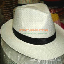 Custom Printed Paper Panama Hat with Logo for Advertising
