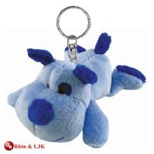 Personalizado OEM diseño llavero de perro de peluche de juguete