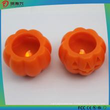 Battery Operated Pumpkin Shape Wax LED Candle Light
