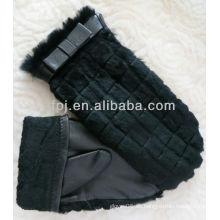 2013 guantes de cuero con dedos