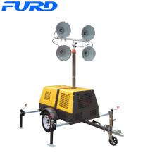 Torre de emergência de gerador de emergência de reboque de LED