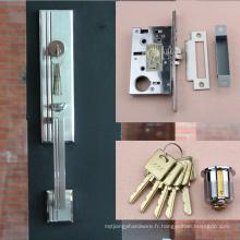 Serrure de porte en aluminium de haute qualité, serrure de porte de pièce froide, couverture de serrure de porte