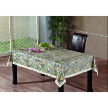 PVC Embossing Tablecloth with Flannel Backing (TJG0011)