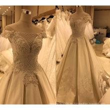 Satin Echtes Muster Brautkleid Kleid