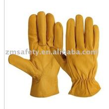 Guantes amarillos de piel de cabra