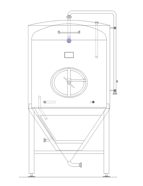 fermenter drawing