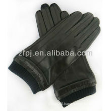 Plain style mens cheap leather gloves
