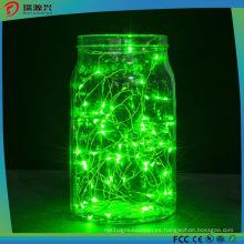 Luces de cuerda, Super Bright Warm Color verde Cuerda de alambre Lights-Green