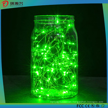 String Lights, Super Bright Warm Green Color Wire Rope Lights-Green