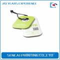 SenCai green grass color round tag with black plastic handle