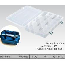 Novo em estoque caixa de equipamento de pesca caixa de isca de plástico