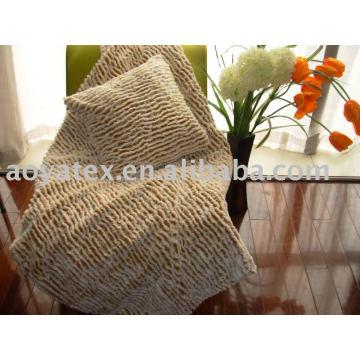 PV-Plüsch-Fleece-Decke und Kissen