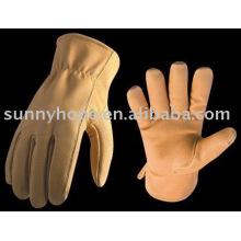 Gant de conducteur de cuir de vache Sunnyhope, gants en cuir, gants en cuir