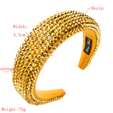 Wide-brimmed headdress with thick sponge solid color headband for ladies press release art headband
