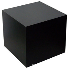 Black Cube Table Wood Pedestal